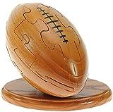 Rugby Ball 3D Puzzle en bois + keyring gratuit: nouveauté d'amusement de...
