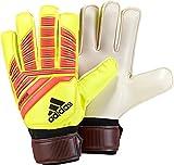 adidas Unisex-Adult Predator Training Goalie Gloves, Solar Yellow/Solar Red/Black, 9