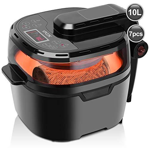 DeLonghi Roto Fry Friteuse | Uniek Roto-Fry systeem, roterend frituurmandje | Gebruikt 50% minder olie | Twee vervangbare filters en doorkijkruitje | 1800 watt | Inhoud 1,2 liter