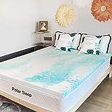 POLAR SLEEP Mattress Topper, 3 Inch Plush Gel Memory Foam Mattress Topper with CertiPUR-US Certified (Queen, 3 inch)