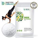 Detox Organica MSM Poudre 1kg Pure à 99,9%-Souffre Organique 100% Naturelle &...