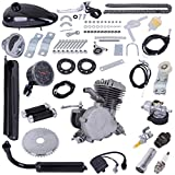 Upgrade 80cc 2 Stroke Cycle Motor Kit Motorized Bike Kit, Petrol Gas Bicycle Engine Kit with Speedoemter Super Fuel-efficient for 26' and 28' Bikes (Black)