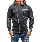 Sudadera con capucha para hombre, de manga larga, con cremallera completa, de terciopelo, estilo informal, talla M - 3XL