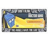 Doctor Who License Plate Frame - Don't Blink Weeping Angel Design 6.25' x 12.25'