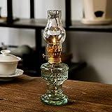 YFYW Lampe à pétrole en Verre Lampe à Huile Rétro Transparent Lampe à...