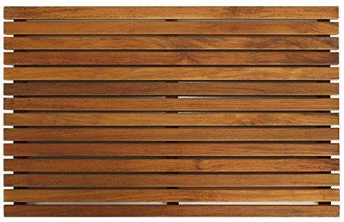 Bare Decor Zen Spa Shower or Door Mat in Solid Teak Wood and...