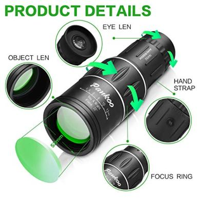 Pankoo-16X52-Monocular-Telescope-High-Power-Prism-Compact-Monoculars-for-Adults-Kids-HD-Monocular-Scope-for-Bird-Watching-Hunting-Hiking-Concert-Travelling