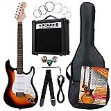 Rocktile Banger's Pack Set Guitare Électrique Sunburst, 7 Pièces