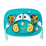 Assiette pour bébé enfant - Mini assiette antidérapante avec ventouse en silicone - Assiette pour bébé antidérapante - Sans BPA - Pour la plupart des tables à manger et des chaises hautes