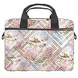 Abstracto Seashells - Maletín extensible para portátil de hasta 13.4 y 14.5 pulgadas, bolsa de mensajero para viajes, negocios, escuela, hombres y mujeres