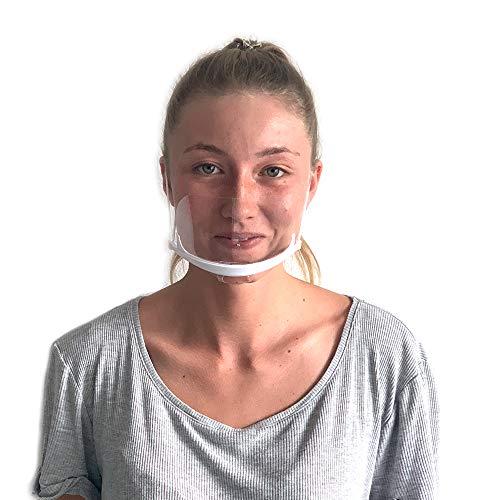 Mascherine Trasparenti DECADE® 10 pezzi Safety L PREMIUM bianco - protezione del viso in mascherina plastica...