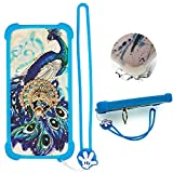 Case for Huawei Raven LTE H892l Case Silicone Border + PC Hard backplane Stand Cover XKQ