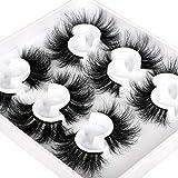 Mink Eyelashes 6D Dramatic Long Wispy Fluffy Mink Lashes Faux 6 Styles Mixed Luxury High Volume Thick False Eyelashes Soft Handmade Reusable Lashes Pack