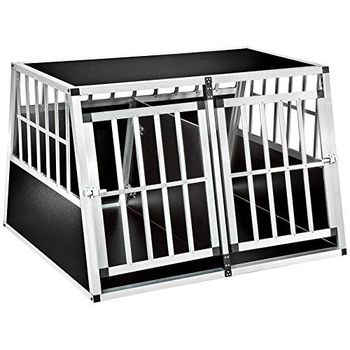 TecTake 800350 Cage Box Caisse en Forme de Trapèze Aluminium - diverses Modèles (104x90,5x71cm avec séparation | No. 402227)