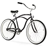 Firmstrong Urban Man Beach Cruiser Bike, Mens Bicycle 26-Inch, 1-Speed, Matte Black