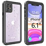 gnaisi iPhone 11 Waterproof Case, Shockproof Dropproof Dirt Rain Snow Proof iPhone 11 Case with Screen Protector, Full Body Protection Heavy Duty Underwater Cover for iPhone 11/6.1'【2019】