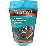 The Real Meat Company 828007 Dog Jerky Fish/Venison Treat, 12-Ounce