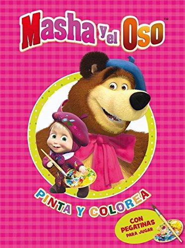Pinta y colorea (Masha y el Oso. Actividades): (Incluye pegatinas)