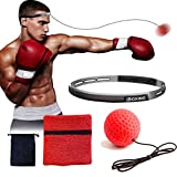 NLA Reflex Ball Boxing Equipment with Sweat Band | Adjustable for Adults and Kids | Workout at Home