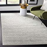 Safavieh Adirondack Collection ADR113C Modern Ombre Non-Shedding Stain Resistant Living Room Bedroom Area Rug, 4' x 6', Light Grey / Grey