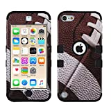 MY TURTLE iPod Touch 7th 6th 5th Generation Case Shockproof Hybrid Hard Silicone Shell Impact Cover with Screen Protector for iPod Touch 7 (2019), iPod Touch 5/6 (2015), Ball Sports Football