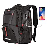Travel Laptop Backpack,TSA Friendly Approved 17 Inch Large Business Travel Computer Backpack with USB charging cable & Headphone Hole,RFID protection, Durable Water Resistant Big College School bag