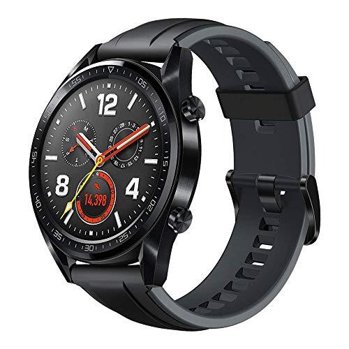 HUAWEI Watch GT Orologio con Autonomia della Batteria fino a 2 Settimane, Impermeabile 5 ATM, GPS, TruSeen 3.0 Monitoraggio della Frequenza Cardiaca, Smartwatch, 1.39' Touchscreen, Nero
