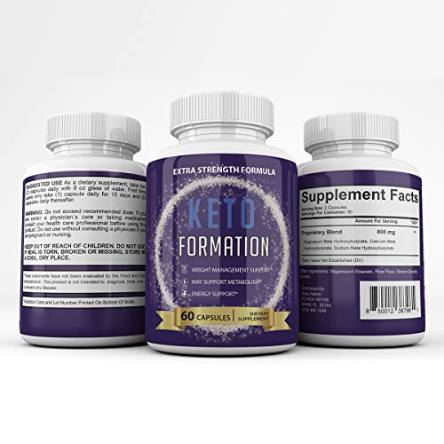 Keto Formation Extra Strength Formuila - Energy - Weight Management and Metabolism Support - 6o Capsules - 1 Month Supply 4