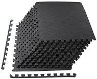 "BalanceFrom Puzzle Exercise Mat with EVA Foam Interlocking Tiles, 1/2"" Thick, 48 Square Feet, Black"