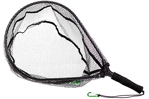 Zite Fishing - Retino da pesca gommato, 60 x 33 cm, con moschettone per la pesca