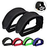 Outgeek 1 Pair Bike Pedal Straps Pedal Toe Clips Straps Tape for Fixed Gear Bike