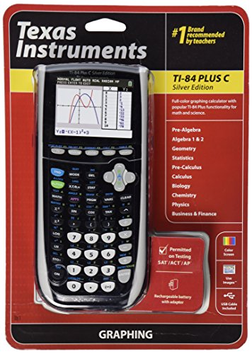 Texas Instruments TI-84 Plus C Silver Edition Graphing...