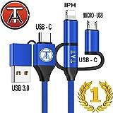Cable Multi USB 5 en 1 (Rare) - Cable USB Multi Embout, Multi Connecteur,...