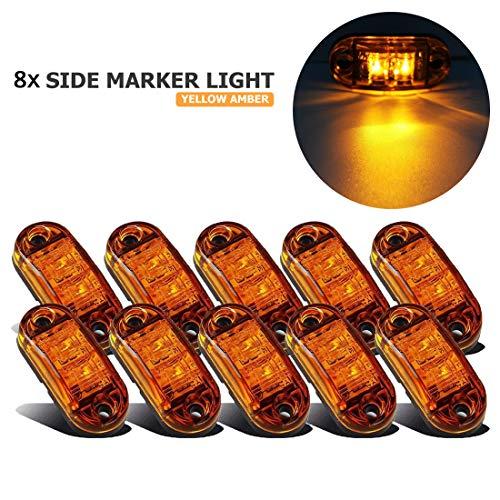 VIGORFLYRUN PARTS LTD 10x LED Luce Laterale Luci di Posizione Indicatore LED Fanali Posizione, per 12V 24V Rimorchio Camion Furgone Rimorchi Auto - Ambra