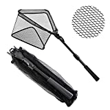 "SAN LIKE Fishing Landing Net - Durable Fish Friendly Net Telescoping Pole Non-Slip EVA Handle for Safe Fishing Catching or Releasing 36"",43inch"",71inch"",98inch"""