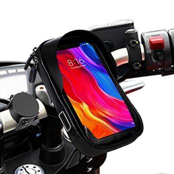 """Soporte movil Moto Bicicleta Bici Impermeable Funda Compatible con Smartphones de hasta 6.9"""" Soporte móvil Moto Soporte movil para Moto Soporte para movil Bicicleta Bici"""