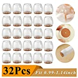 32 Pack Chair Leg Caps Silicone Floor Protector Round Furniture Table Feet Covers