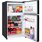 2 Door Mini Fridge with Freezer TECCPO, Compact Refrigerator, Energy Star, 35dB, LED Light,...