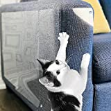 Amazing Shields - Six(6) X-Large Furniture Protectors from Cats - Cat Repellent for Furniture - Cat Scratch Deterrent - Cat Couch Protector - Scratch pad - Cat Couch(17' L X 12' W)