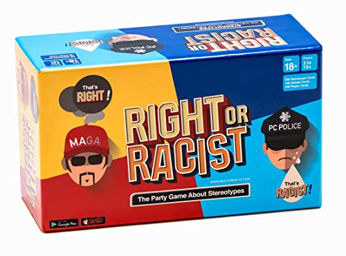 Right Or Racist - Funny Adult Party Game Hilarious Drinking NSFW Game - Gag Gifts - Birthday Gifts for Men - Women