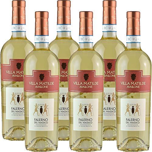 Falerno del Massico Doc | Villa Matilde | Vino Bianco della Campania | 6 Bottiglie 75Cl | Idea Regalo