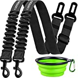 COOYOO Dog Seat Belt,3 Piece Set Retractable Dog Car Seatbelts Adjustable Pet Seat Belt for Vehicle Nylon Pet Safety Seat Belts Heavy Duty & Elastic & Durable Car Harness for Dogs