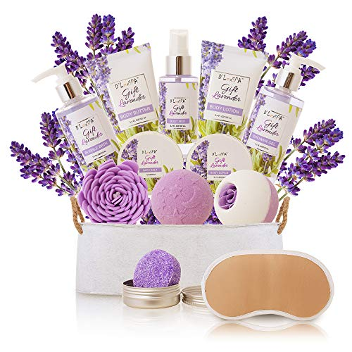 Spa Gift Baskets for Women Lavender Bath and Body At Home...