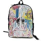 Mochila Mochila de Viaje Jean Michel Basquiat Backpack Campus School Bag Casual Backpack Gym Travel Hiking Canvas Backpack