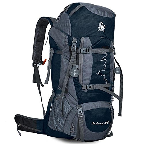 XUEXIN 80L+5L Internal Frame Backpack - Multi-Day Pack for...