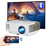 Mini WiFi Projector, LED Portable Home Theater Projector, Wireless Bluetooth Android Support 1080P, 4D Keystone Compatible with USB PC Game Console Smartphone Tablet for Indoor Outdoor Entertainment