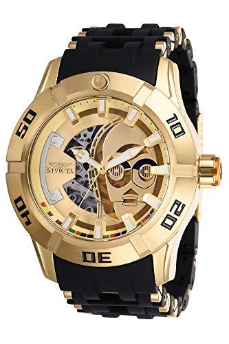 Invicta 26550 Star Wars - C-3PO Herren Uhr Edelstahl Automatik goldenen Zifferblat