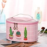 Bolso de Cosméticos Bolso cosmético Cactus profesionales de las n constituyen casos cosméticos bolsa casual del organizador del recorrido del bolso del maquillaje caja de la belleza ( Color : Pink )
