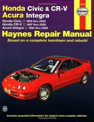 Honda Civic 1996-2000, Honda CR-V 1997-2000 & Acura Integra 1994-2000 (Haynes Automotive Repair Manual)