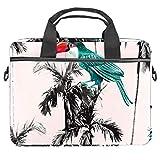 Cartoon Toucan - Bolsa para portátil de 13,4 – 14 pulgadas, multifuncional, maletín portátil, correa ajustable para el hombro